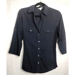 James perse contrast rubbed surplus shirt navy L 3